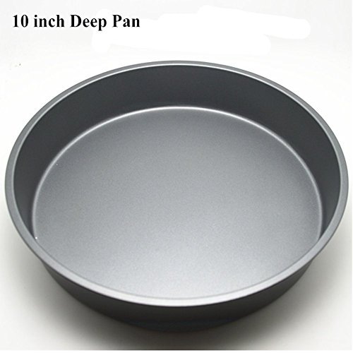 "Topseller Carbon Steel Round Dish Pizza Pan Non-stick Pizza Pie Tray Baking Kitchen Bakeware Tool (10"" ( 26.2CM4.2CM ), Deep)"