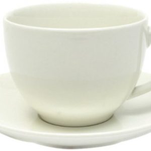 Maxwell and Williams Basics Cup and Saucer, White
