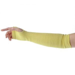 Oven Sleeve with Kevlar Fibers and Thumb Hole 18″L Yellow