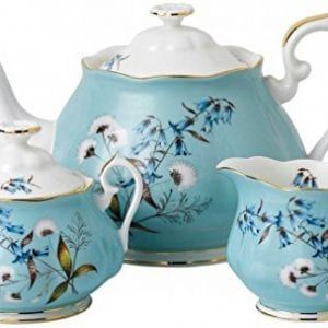 Royal Albert 3 Piece 100 Years 1950 Teapot, Sugar & Creamer Set, Multicolor