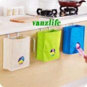 vanzlife kitchen cabinet door back type extraction garbage bag storage bag multi use hanging type storage bag