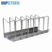 HIPSTEEN Adjustable Stainless Steel Kitchen Utensil Pantry Rack Dish Plate Storage Holder Organizer Kitchen Tool For The Kitchen