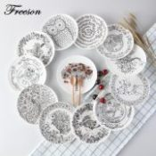 Creative Black White Animal Bone China Cake Dishes And Plates Pastry Fruit Porcelain Tray Steak Dinner Ceramic Tableware Decor