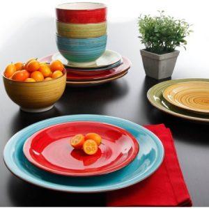 Better Homes and Gardens Festival 12-Piece Dinnerware Set, Assorted, Dishwasher Safe