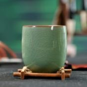 Cup tea set Pu'er Green Tea cups Coffee Handmade Cracking Retro Celadon Drinkware 6 colors