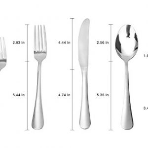 Flatware Set, MCIRCO 5-Pieces Flatware Set Heavy-Duty Stainless Steel Cutlery – Multipurpose Use for Home, Kitchen or Restaurant