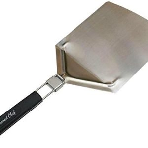Stainless Steel Pizza Peel With Folding Handle. Paddle Size 9.5 x 13 Inches Grea...