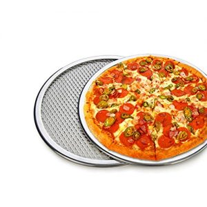 "Pizza Stone of 1 piece 12"" Seamless Rim Aluminium Pizza Mesh Pizza Screen Baking Tray Pizza Making Net Bakeware Pizza Tools"