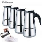 KITNEWER High Quality 100/0/300ml/450ml Stainless Steel Espresso Maker Kitchen Drip Kettle Tea Pot Coffe Pot Coffee Extractor