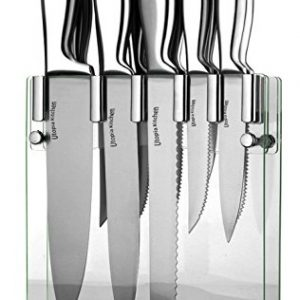 Utopia Kitchen Premium Class Stainless-Steel 12 Knife Set with Acrylic Stand