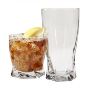Anchor Hocking Sybil Small and Large Drinking Glasses, 16-Piece Glassware Set